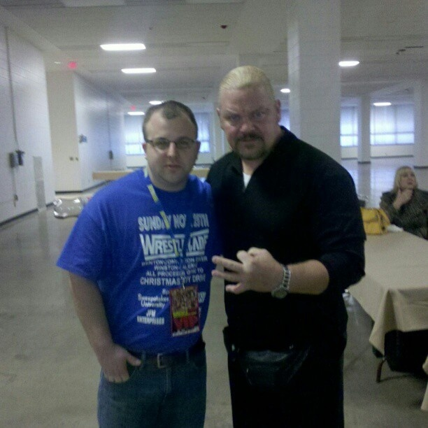 Shane Douglas and Brian Hawks at WrestleCade. Super nice dude. #wc2012 - @lilbrian37