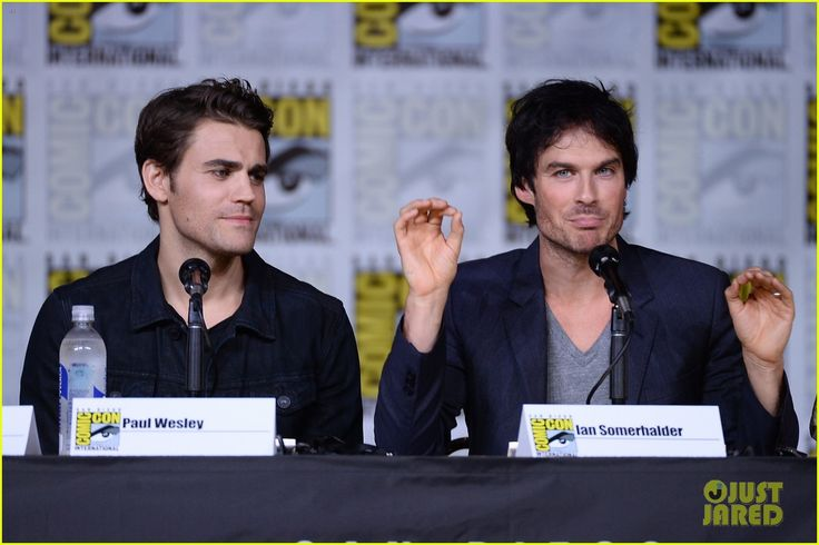 Paul Wesley and Ian Somerhalder  @ The Vampire Diaries Panel at Comic-Con 2016