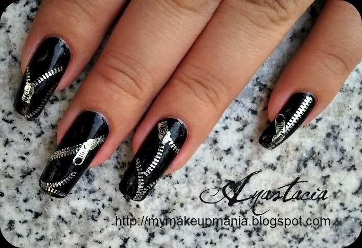 Zipped up nails  #nails #polish: Nails Check, Inch Nails, Zippers Nails, Nails Nails, Nails Art, Acrylics Nails, Nails Crazy, Nails Ideas, Kool Nails