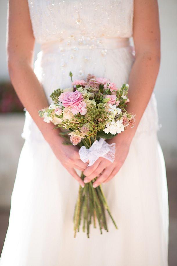 Blush, Mint & Grey Romantic Farm Wedding