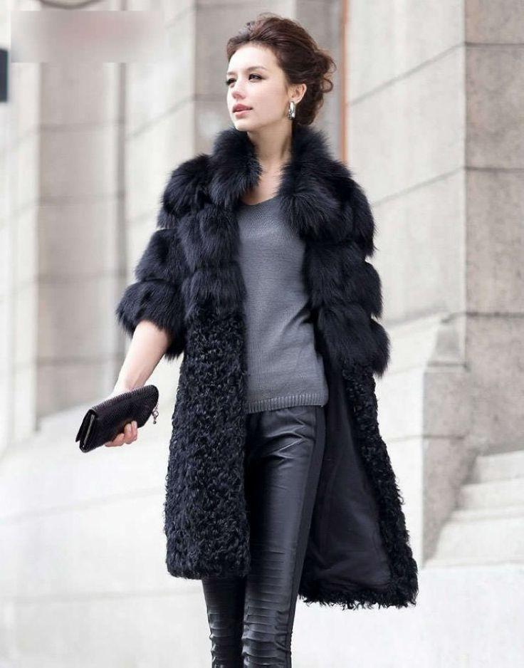 Роскошь подлинная естественная лисий мех пальто куртка овчина пэчворк зима…