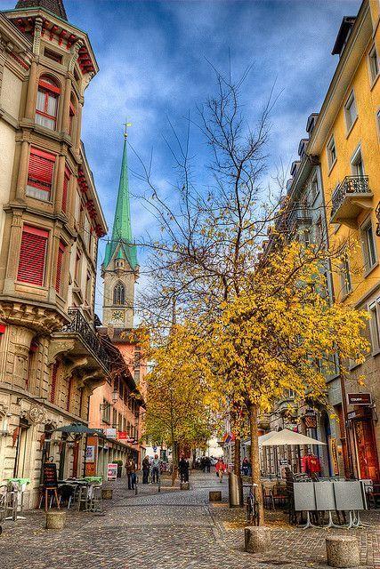 In pretty Zurich, Switzerland.