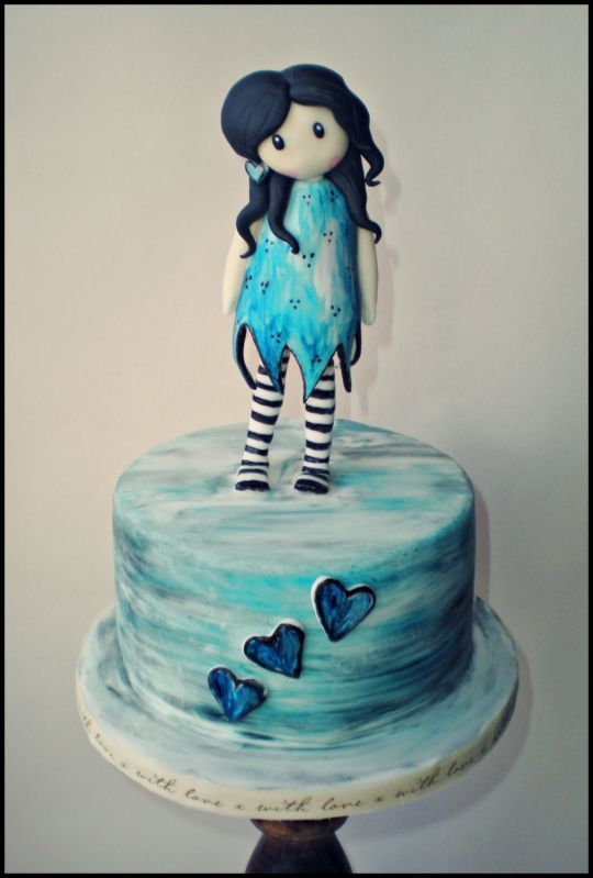 Cake Art By Suzanne : Gorjuss Cake inspired by artists suzanne woolcott ...