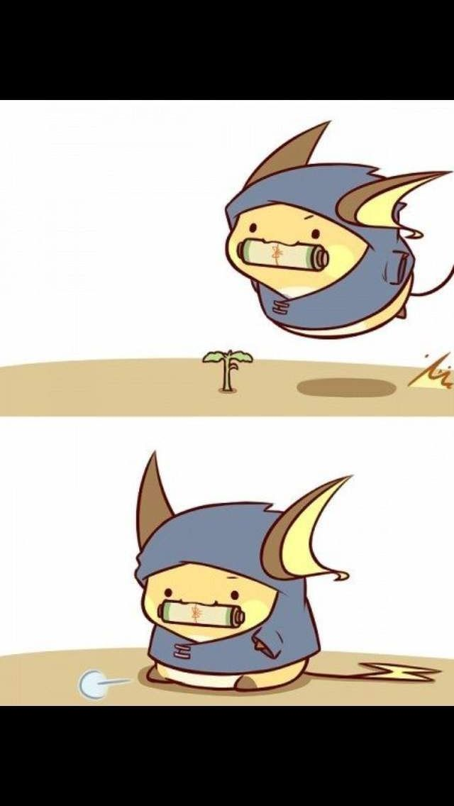 Raichu doing... something.