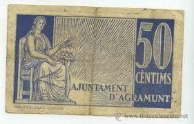50 centims ajuntamentd d´agramunt  agramunt