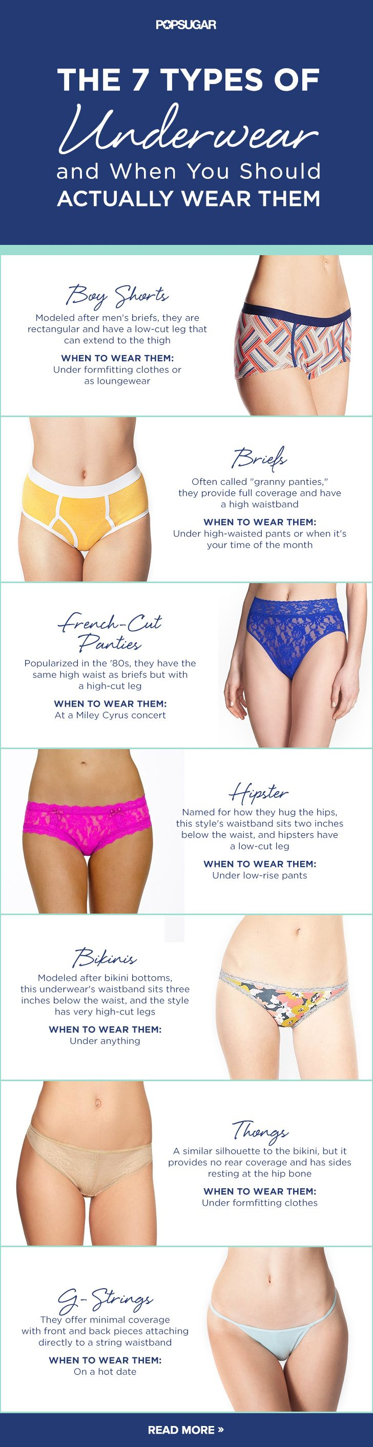 Your official underwear guide.