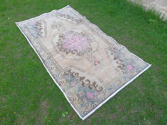 Turkish Carpet Cappadocia Rug Turkish Oushak Rug Shabby