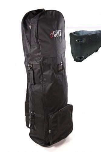 Uk Golf Gear Bag Travel Cover Clubs Case Soft Padded Flight Carrier Expandable Black New Airplane