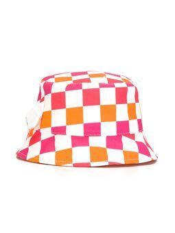 checked sun hat