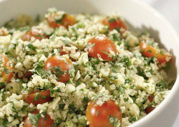 Quinoa salad with grilled corn  tomatoes and cilantroQuinoa Salad Cilantro