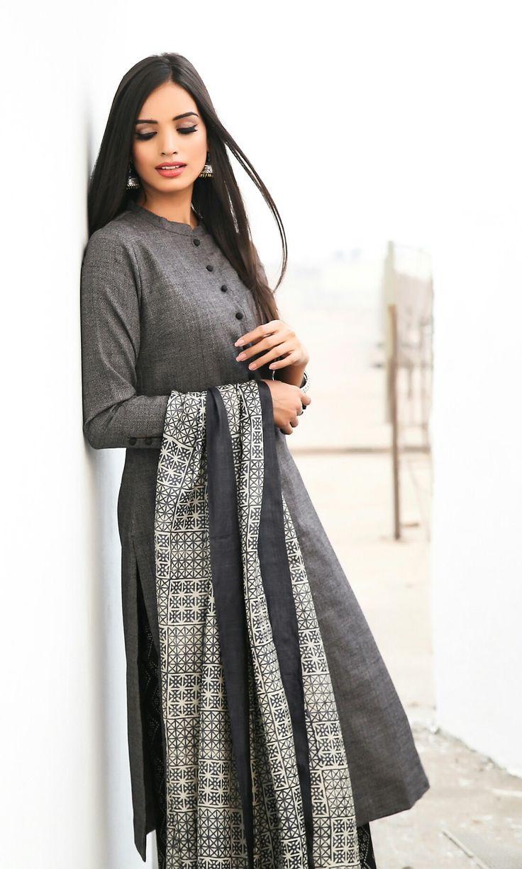 kurta girl, tussar silk sarees,  shop designer sarees @ http://ladyindia.com