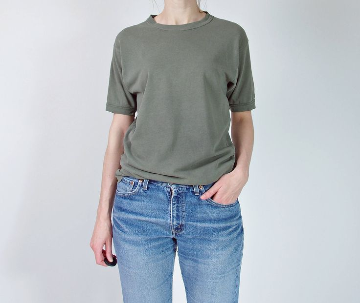 #70s #Khaki #army t-shirt 💯 http://etsy.me/2DxTeLq #vintage #etsy #streetwe #streetstyle #oldschool #vintagefashion #vintageclothes #vintagearmy  #military #workwear #basictee #distressed #vintageworn #unisexclothing