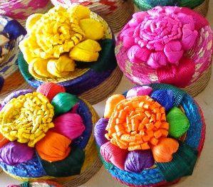 Alajero de palma tianguis de artesanía - Artesanía de palma y hoja de maíz: bolsas de palma, manteles de palma y más