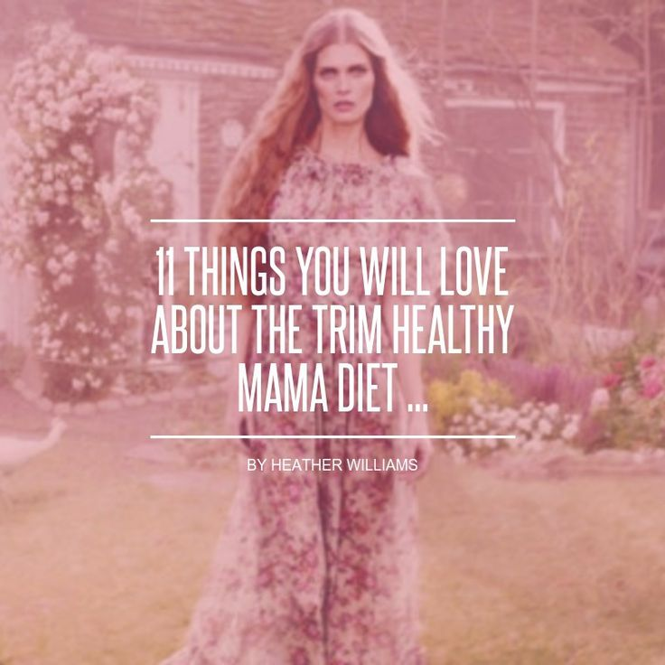 11 #Things You Will Love about the Trim Healthy Mama Diet ... - Diet