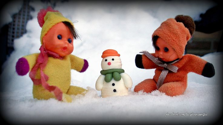 sneeuwpop maken #fofoletes #luciferpoppetjes
