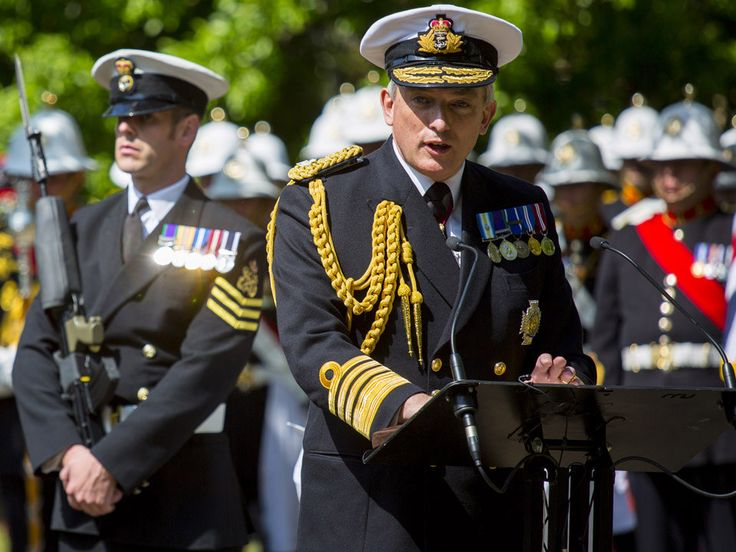 First Sea Lord and Chief of Naval Staff, Admiral Sir Philip Jones making a speech at the unveiling of a paving stone in Leyton. Picture: PO(Phot) Owen Cooban  A paving stone was unveiled in Leyton in honour of Victoria Cross holder John Jack Cornwell, who died aged just 16 following the battle on 31st May 1916.In East London at Jubilee Park, Leyton, the First Sea Lord and around 100 Royal Navy sailors attended the VC Paving Stone unveiling for Victoria Cross recipient Jack Cornwell. They…
