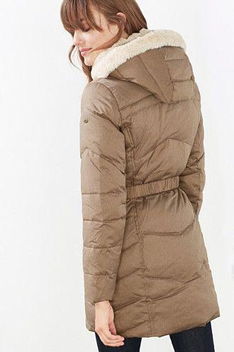 3800**EDC / Péřový kabát s odepínací kapucí