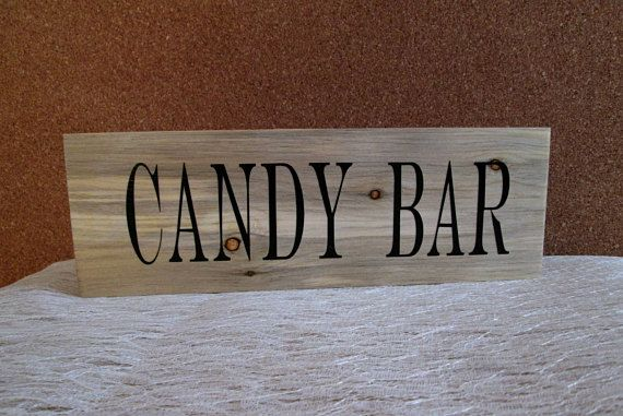 Candy Bar Sign, Wedding Signs, Dessert Table Signs, Sweets Take a Treat, Rustic Wedding Sign, Wedding Reception, Candy Table Sign, Candy Bar