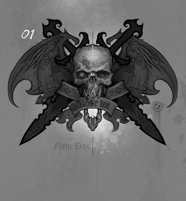 Vampire Race Symbol by Ted Beargeon, via Behance