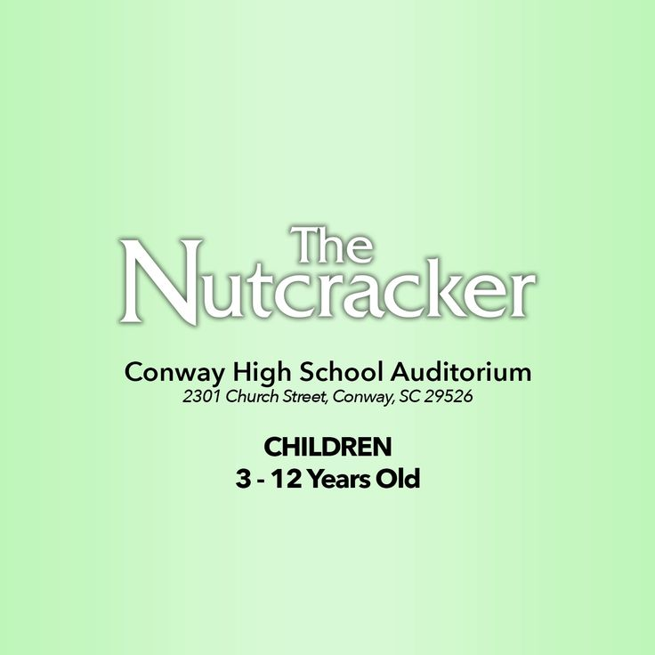 The Nutcracker ticket for one guest for General Admission. Saturday, December 16th, 7:00pm at Conway High School Auditorium  *Tickets can be picked up at any Coastal Dance Centre Front Office o…
