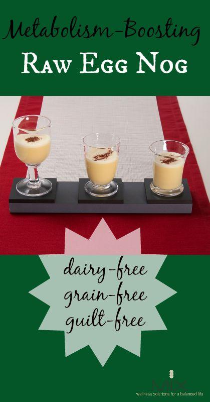 Metabolism-Boosting Raw Egg Nog {Dairy-Free  Gluten-Free  Paleo} | www.mixwellness.com