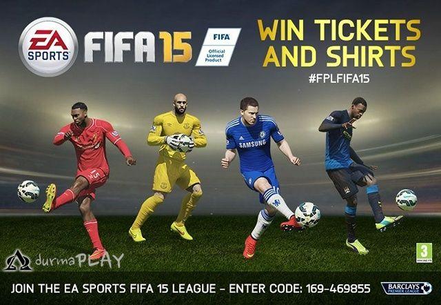 Resmi EA SPORTS Fifa 15 Ligi 3 Ekimde başladı  Size ve arkadaşlarınıza her ay Barclays Premier Lig maç biletleri ve Barclays Premier Lig formaları kazanma şansı sunuyor http://sanalsaray.net/2014/11/03/fifa-15-ligi-3-ekimde-basladi/