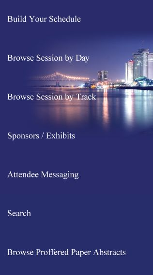 Stunning home screen in EventPilot conference app #eventtech #eventdrs #topevents #meetingapps #bestevents