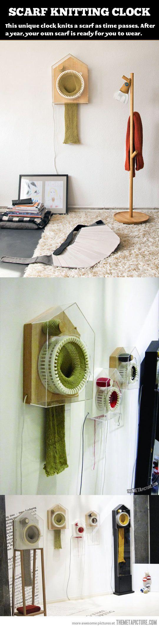 Amazing knitting clock…