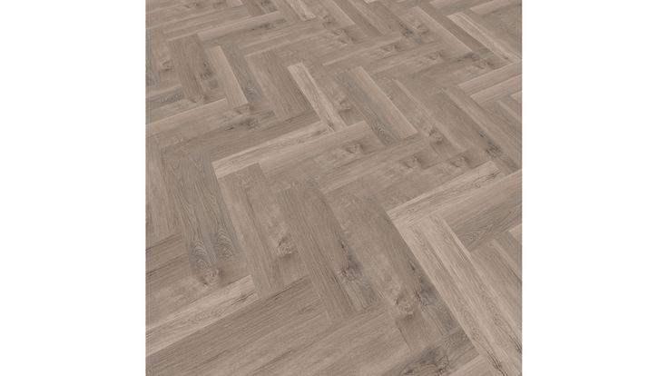 mFLOR Parva Plus Smoky Sycamore pvc vloer in visgraatmotief in woonkamer