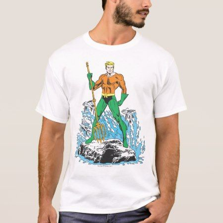 Aquaman Stands with Pitchfork T-Shirt - tap, personalize, buy right now!