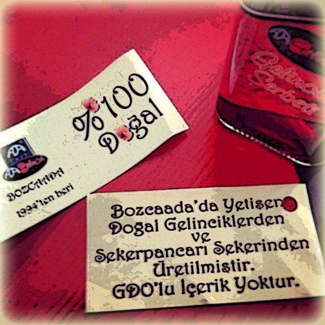 Ada Cafe® Bozcaada Gelincik Şerbeti; %100 Doğal ! Bozcaada'da yetişen doğal gelinciklerden ve şekerpancarı şekerinden üretilmiştir. GDO'lu içerik yoktur. adacafebozcaada's photo on Instagram