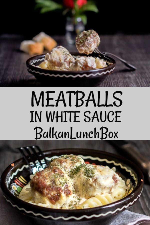 Meatballs In White Sauce Balkan Lunch Box Recipe Ground Beef Meatballs Recipes Ground Beef Recipes