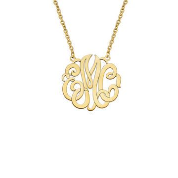 Monogram Pendant, 14K Yellow Gold from Fortunoff Fine Jewelry