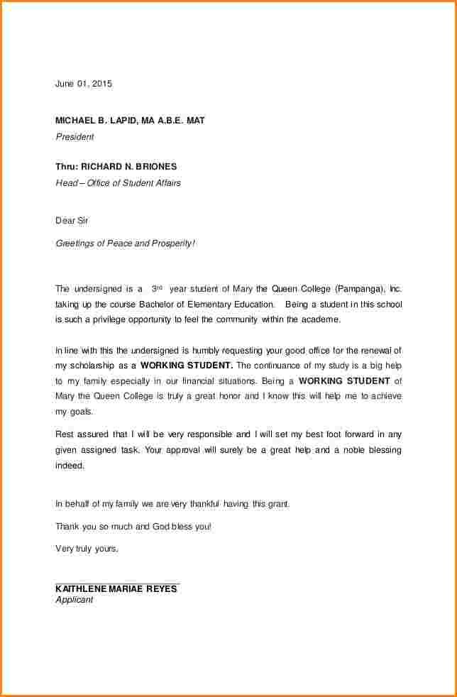sample application letter for scholarship grantmple request letterg