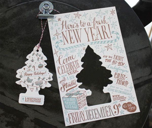 Ladyfingers Holiday Card + Party Invitation