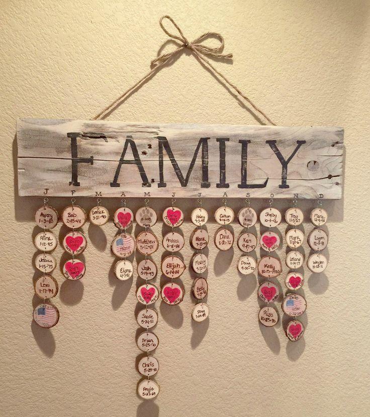 Classic Rustic Family Birthday Board