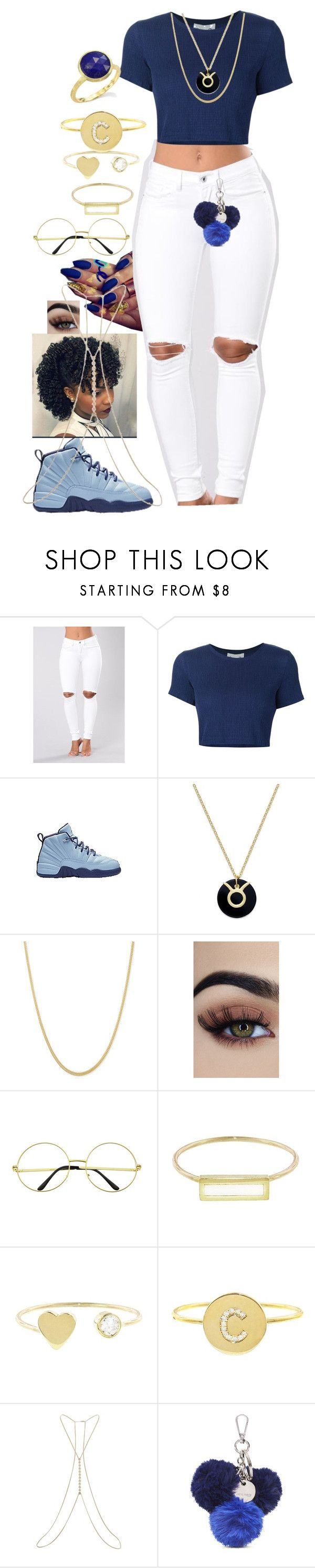 """""""BlueHighness"""" by queen-sugah900 ❤ liked on Polyvore featuring Sea, New York, Giani Bernini, Jennifer Meyer Jewelry, Miss Selfridge, Nine West and Marco Bicego"""
