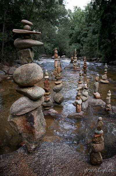 . . . stone totems - what fun! . . .