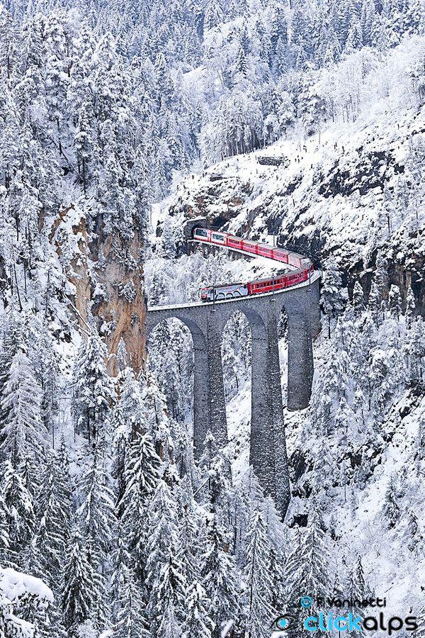 LAndwasser Viadukt in Graubünden Switzerland by Francesco Vaninetti on 500px