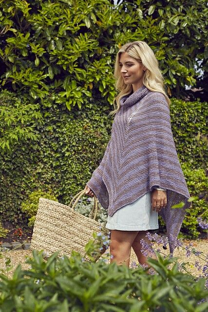 Alma poncho. Find the pattern in knit now magazine issue 64