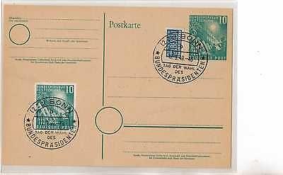 BRD Brief Ganzsache Briefmarken v.1949 MiNr.111 u.Notopfer 2 x So.Stempel BONNsparen25.com , sparen25.de , sparen25.info
