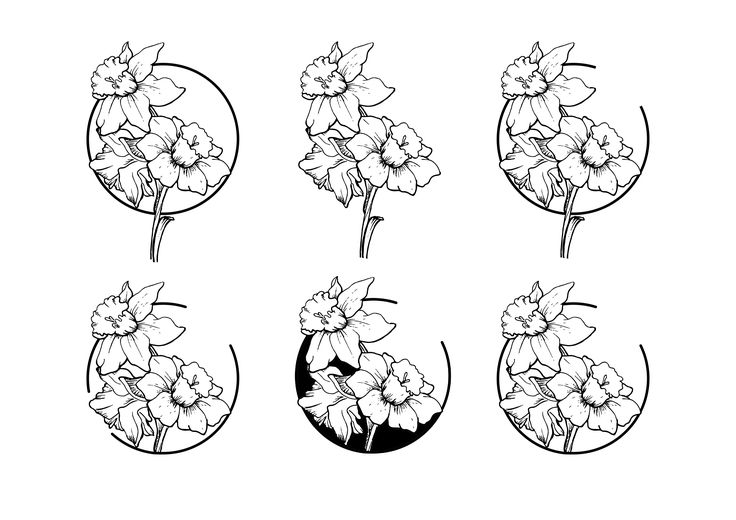 tattoo flower narcissus