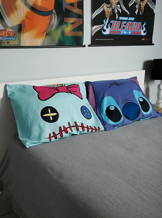 Disney Lilo & Stitch Stitch & Scrump Faces Pillowcase Set,