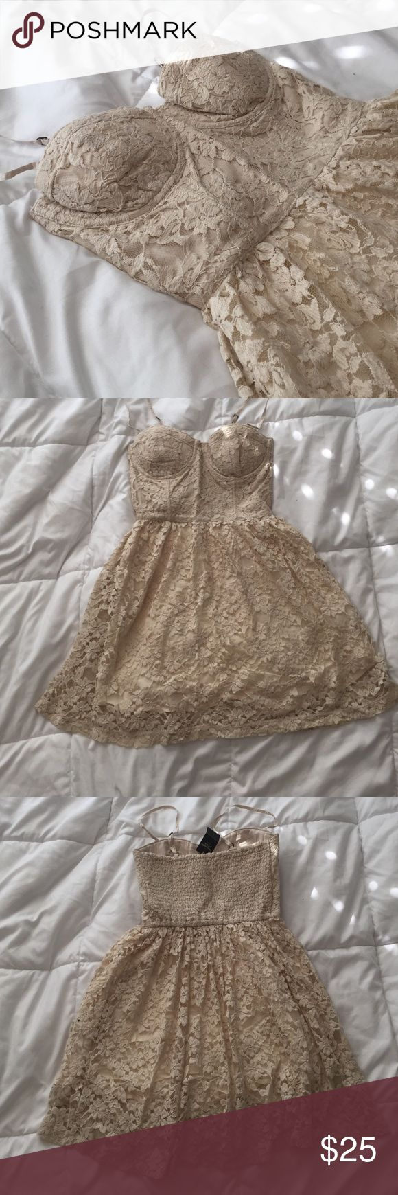 Abercrombie and Fitch lace bustier dress Abercrombie and Fitch bustier lace dress. Brand new with tags. Abercrombie & Fitch Dresses Mini