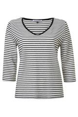 Tramontana - gestreepte shirt met golvend reliëf