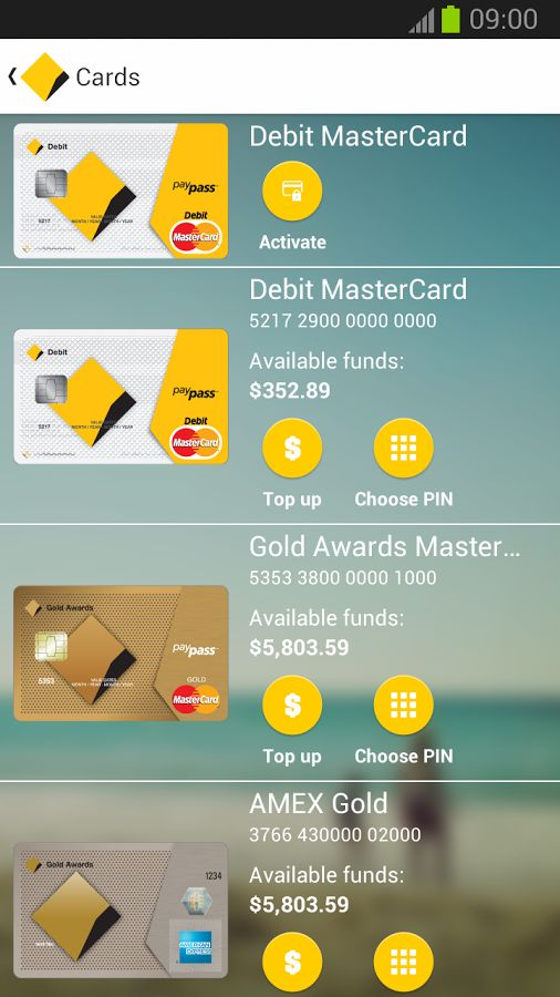 CommBank mobile banking app w/ NFC payments