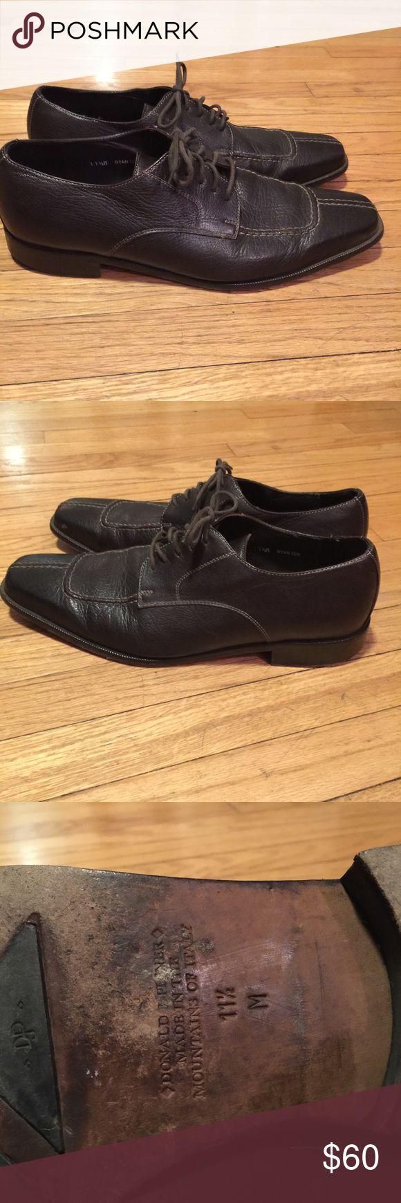 Donald J Pliner men's brown dress shoes - sz 11.5 Donald J Pliner men's brown dress shoes - sz 11.5. Leather. Great condition Donald J. Pliner Shoes Oxfords & Derbys