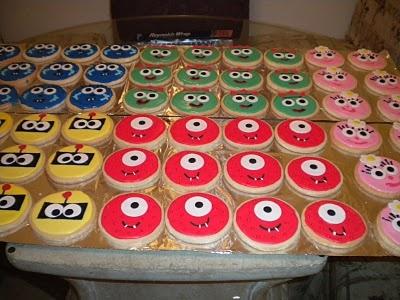 Yo Gabba Gabba cookies.