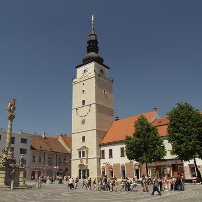 the town square in Trnava, Slovakia