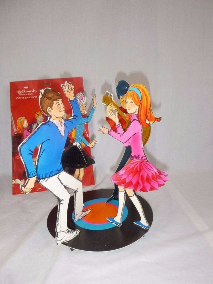 Vtg 60s 70s Hallmark Honeycomb Party Table Centerpiece Teen Ager Dance Party MOD